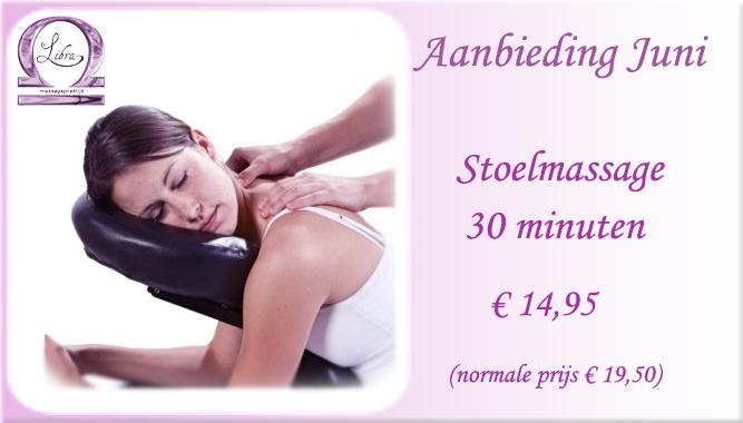 Stoelmassage-aanbieding